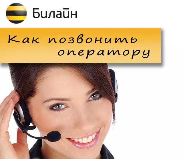 билайн оператор как позвонить бесплатно