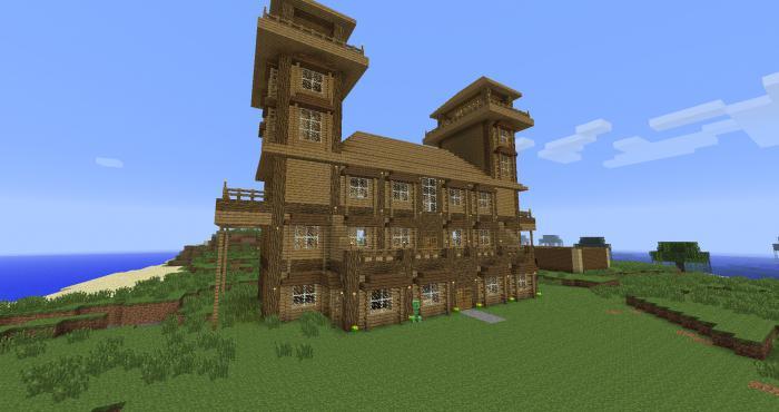 красивый дом в minecraft