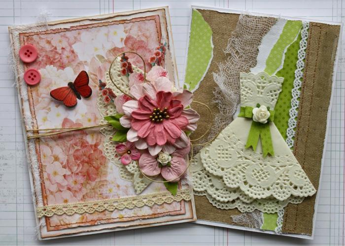 винтажные открытки своими руками