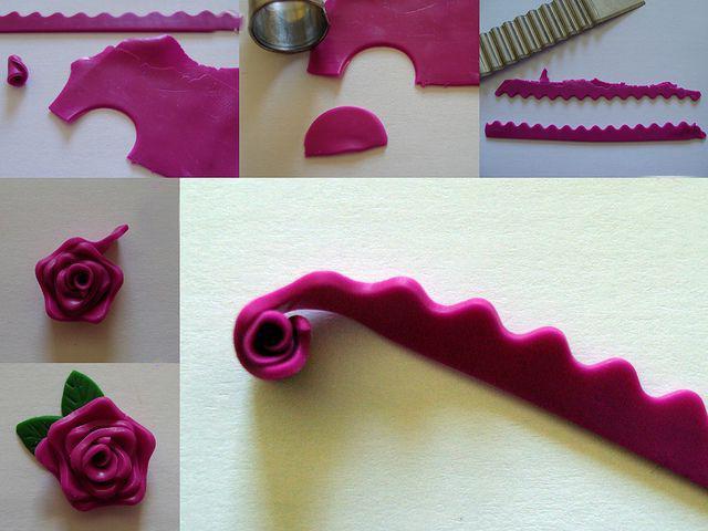 сделать цветы из полимерной глины