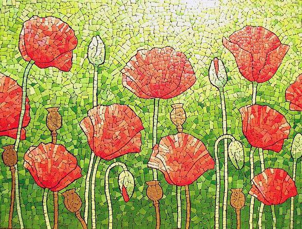 814256 Мозаичная картина своими руками