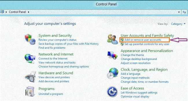 как удалить пароль учетной записи windows 8