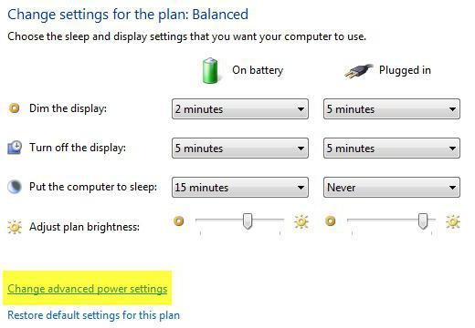 Как вернуть яркость на ноутбуке