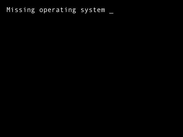 missing operating system windows 7 что делать