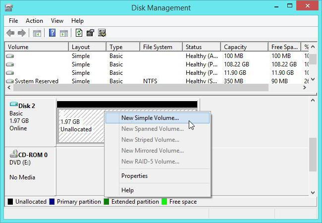 инициализация диска windows