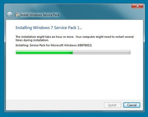 windows 7 сколько занимает места на диске