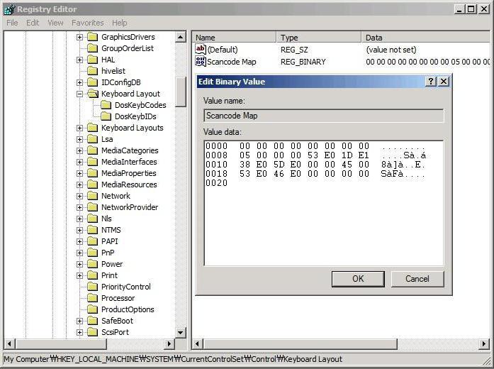 как переназначить клавиши на клавиатуре windows 7 на ноутбуке