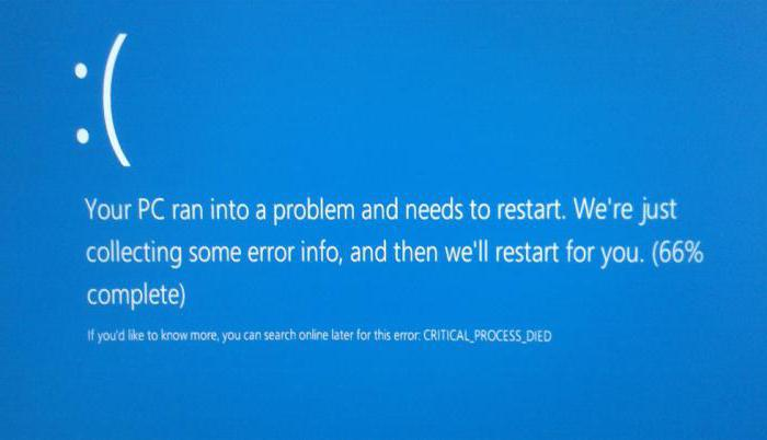 critical process died windows 10 как исправить