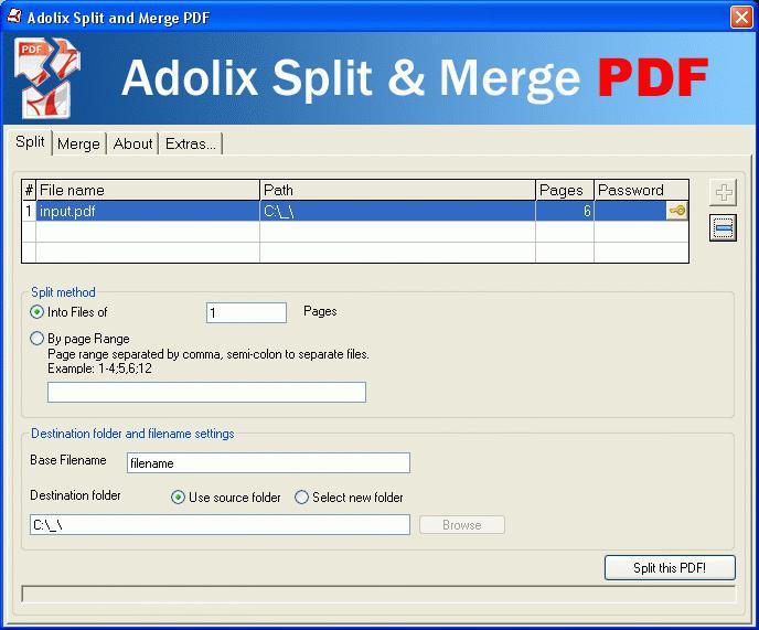 Объединение PDF-файлов в один