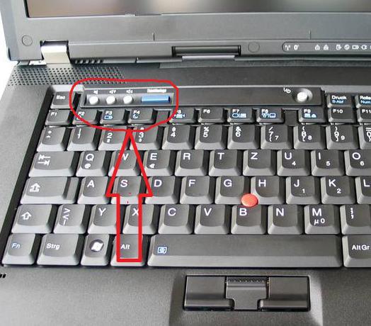 Кнопки регулировки громкости на ноутбуке