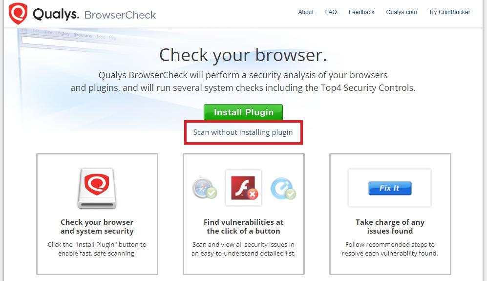 Онлайн-тестирование браузера на вирусы