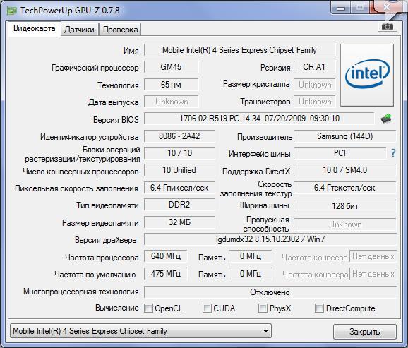 Информационная утилита GPU-Z