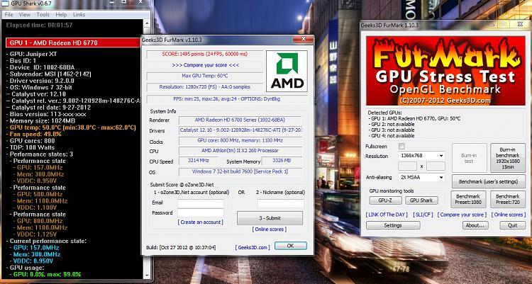 Программа для разгона видеокарты FurMark