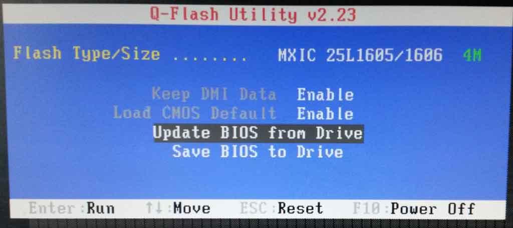 Обновление BIOS в утилите Q-Flash Utility