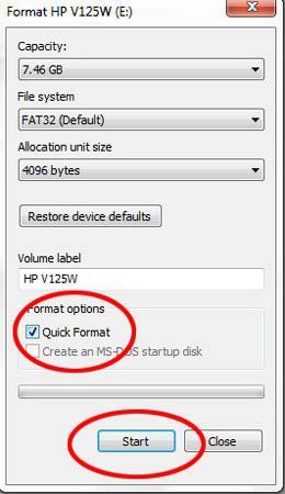 Почему windows не удается завершить форматирование