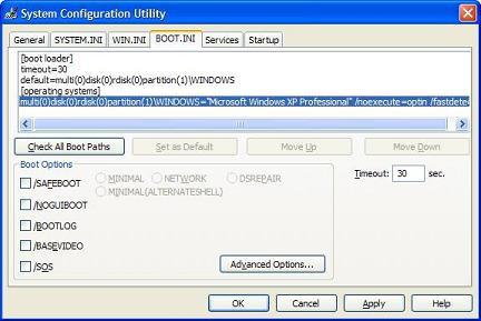 windows 7 файл boot ini