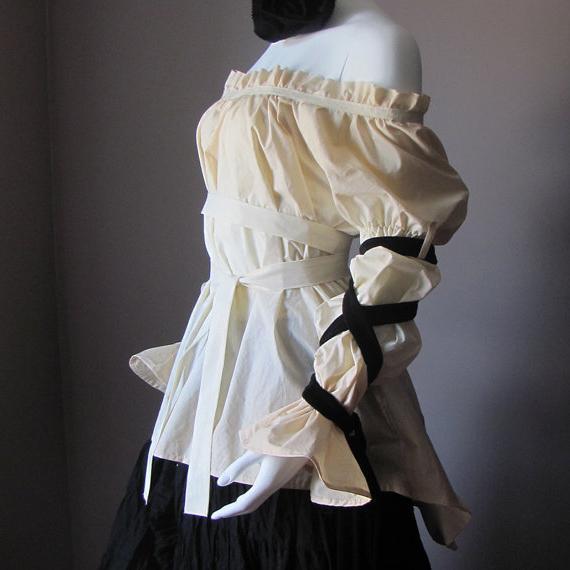 Блузка на резинке по горловине