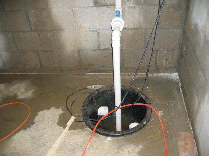 установка дренажного насоса в колодце