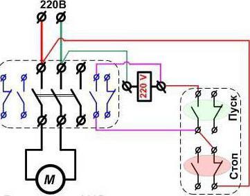 электродвигатель в однофазной сети