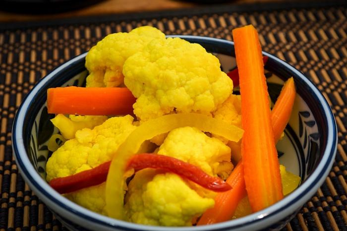 маринованная цветная капуста на зиму очень вкусная хрустящая рецепт