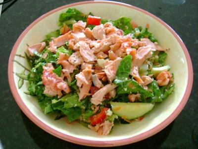 Салат с семгой консервированной рецепт очень вкусный