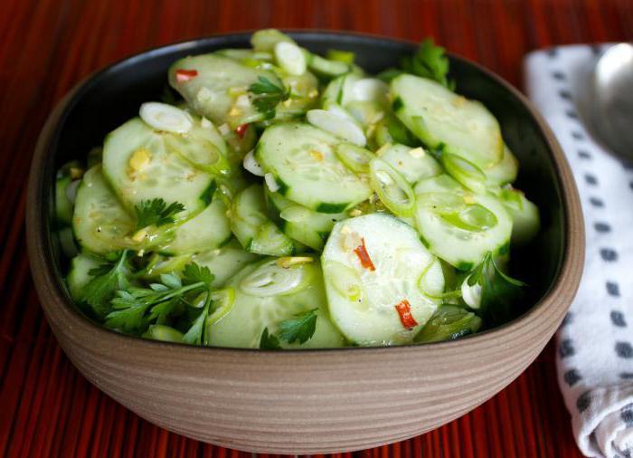 рецепты салатов из перезрелых огурцов на зиму
