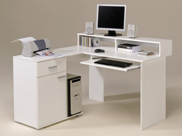 письменный стол угловой белый