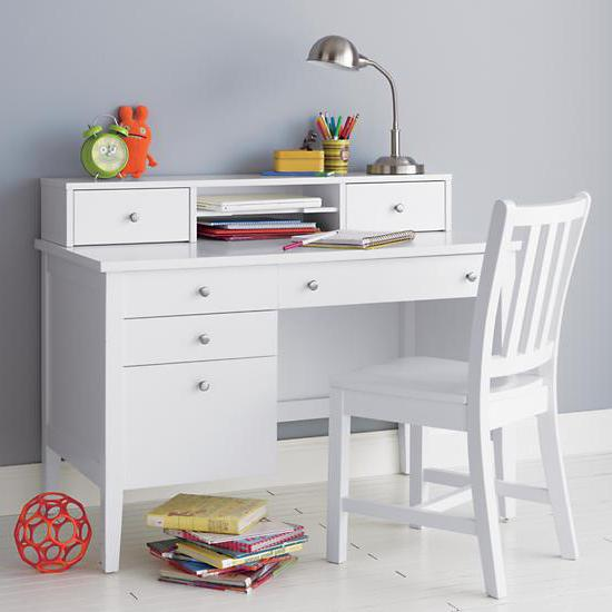 письменные столы белого цвета