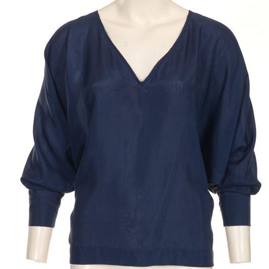 выкройка блузки с круглой кокеткой и цельнокроеным рукавом