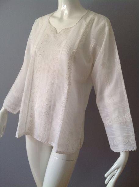 блузка с цельнокроеными рукавами выкройка