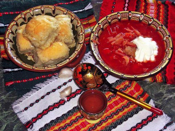 украинские национальные блюда список