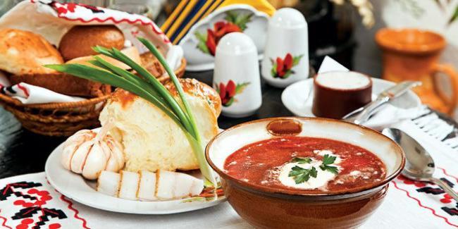 первые блюда украинской национальной кухни