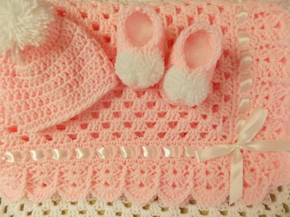 плед на выписку для новорожденных крючком схемы