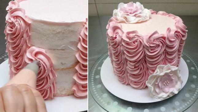 Как украсить торт своими руками фото
