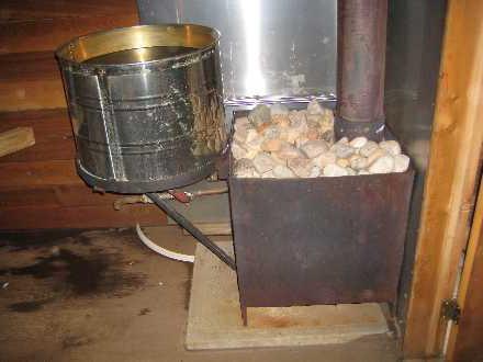 Котел для бани из металла