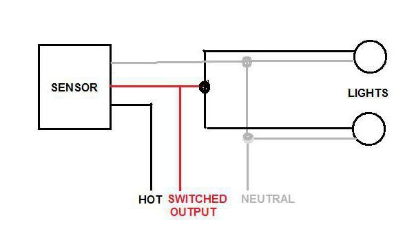 Схема подключения охранного датчика движения