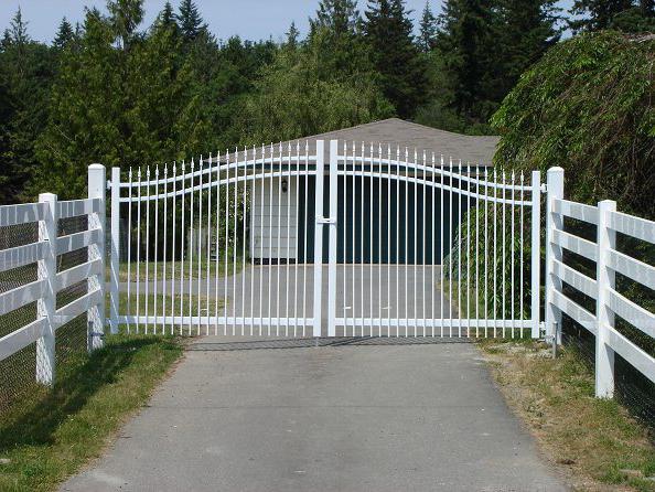 Ворота распашные своими руками
