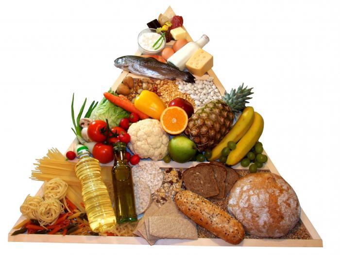 Классификация продуктов питания по группам