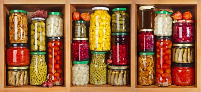Классификация хранения продуктов