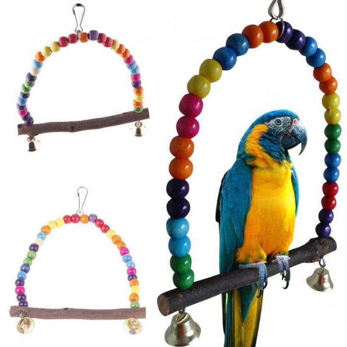 игрушки для попугая корелла своими руками
