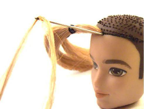 мастер класс по прошивке волос советской куклы