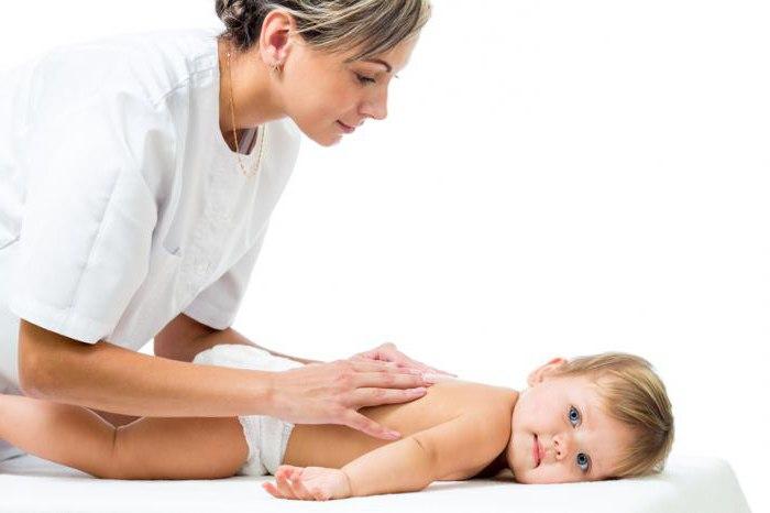 Детский массаж до года