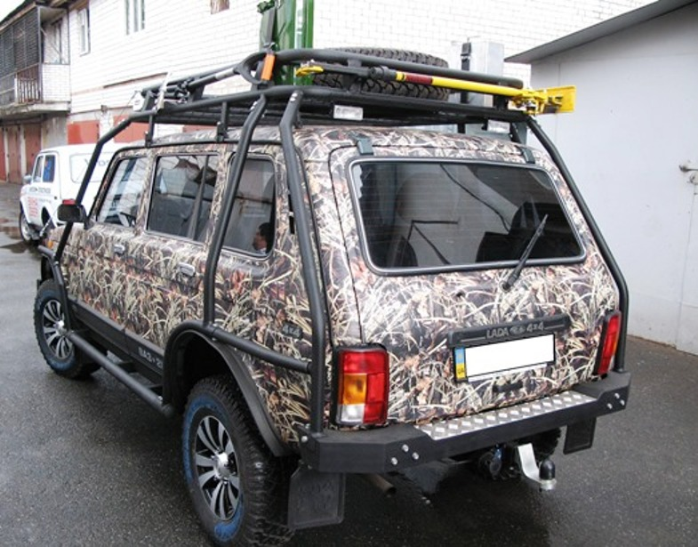 Багажник и бампер тюнинг «Нива»