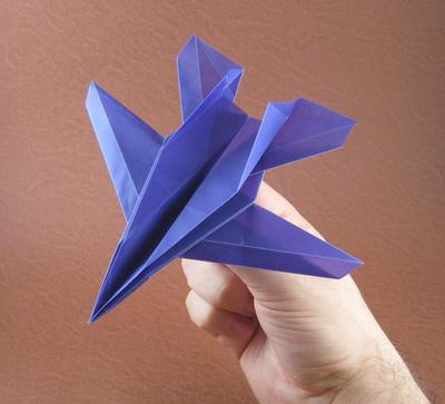 самолет из бумаги схема