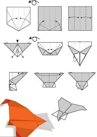 поделки из бумаги самолеты схемы