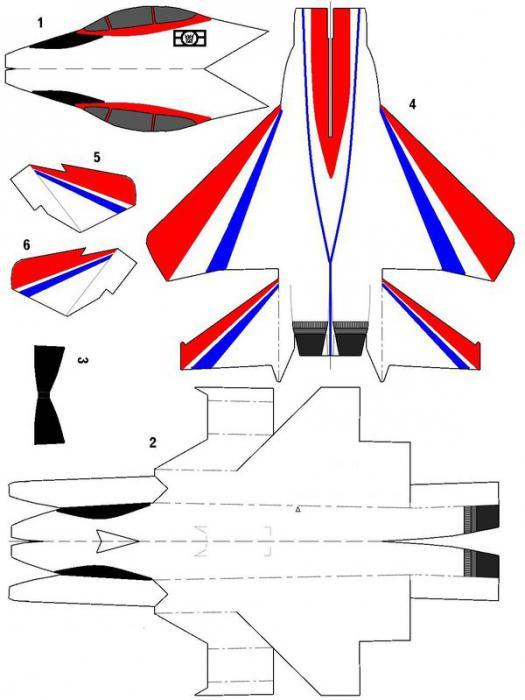 самолеты из бумаги схемы распечатать