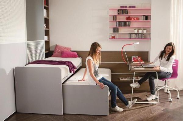 Выдвижная кровать для подростков