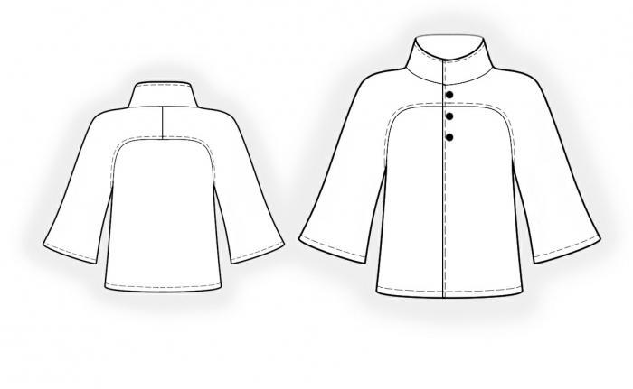 выкройка пальто с цельнокроеным рукавом бурда