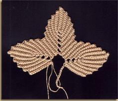 Листочек крючком: схема вязания