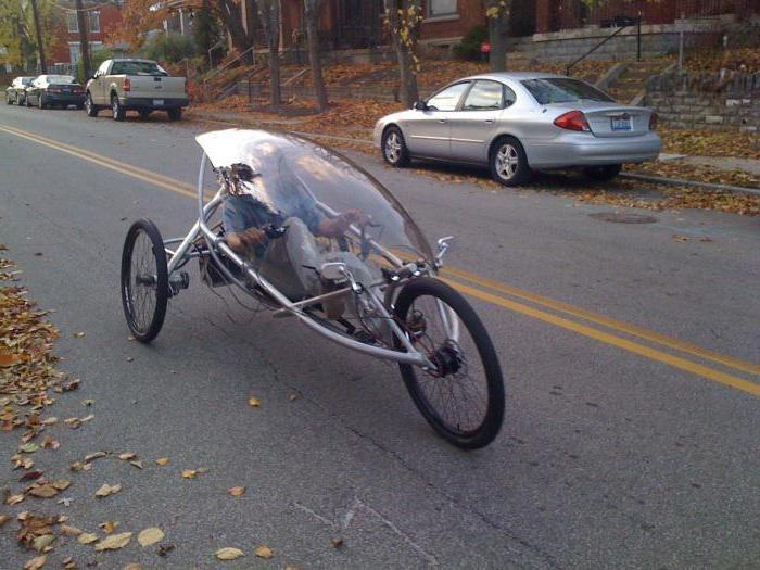 Велосипед трехколесный взрослый лежачий